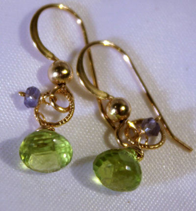 Peridot Tanzanite Petit Earrings