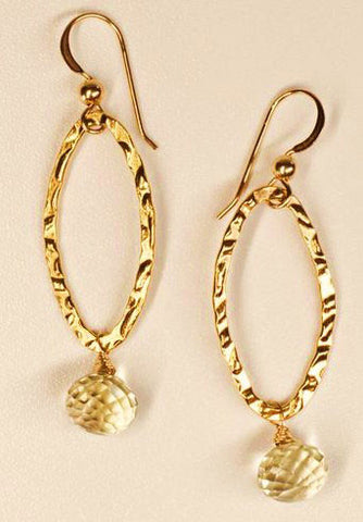 14K Gold-Filled Lemon Quartz Earrings