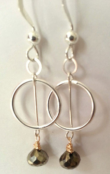 Two Tone Pyrite Earrings