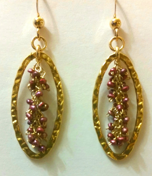 Signature Cranberry Pearl Earrings