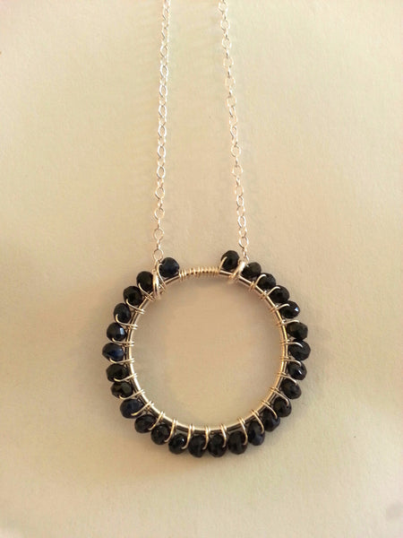 Infinity Black Spinel Necklace