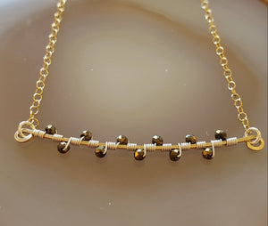 Leila Pyrite Branch Necklace