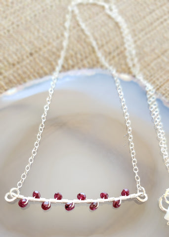 Leila Sterling Ruby Branch Necklace