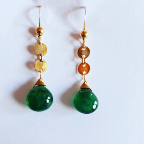 A Pair of Columbian Emerald Earrings