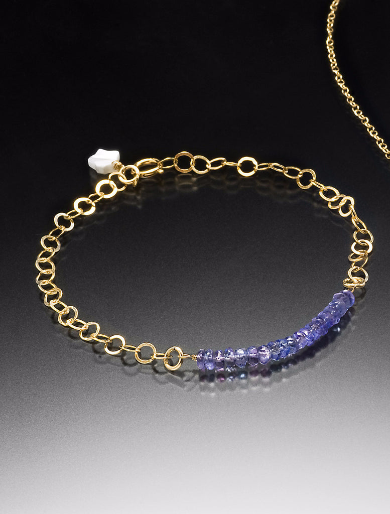 gold bracelet or en tanzanit jonc tanzanite bangle threads abis