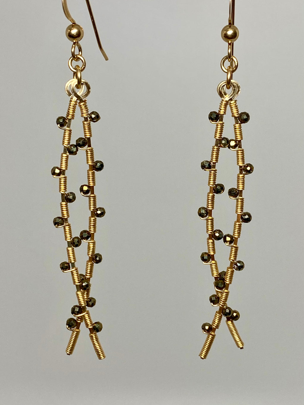 Leila Double Pyrite Earrings