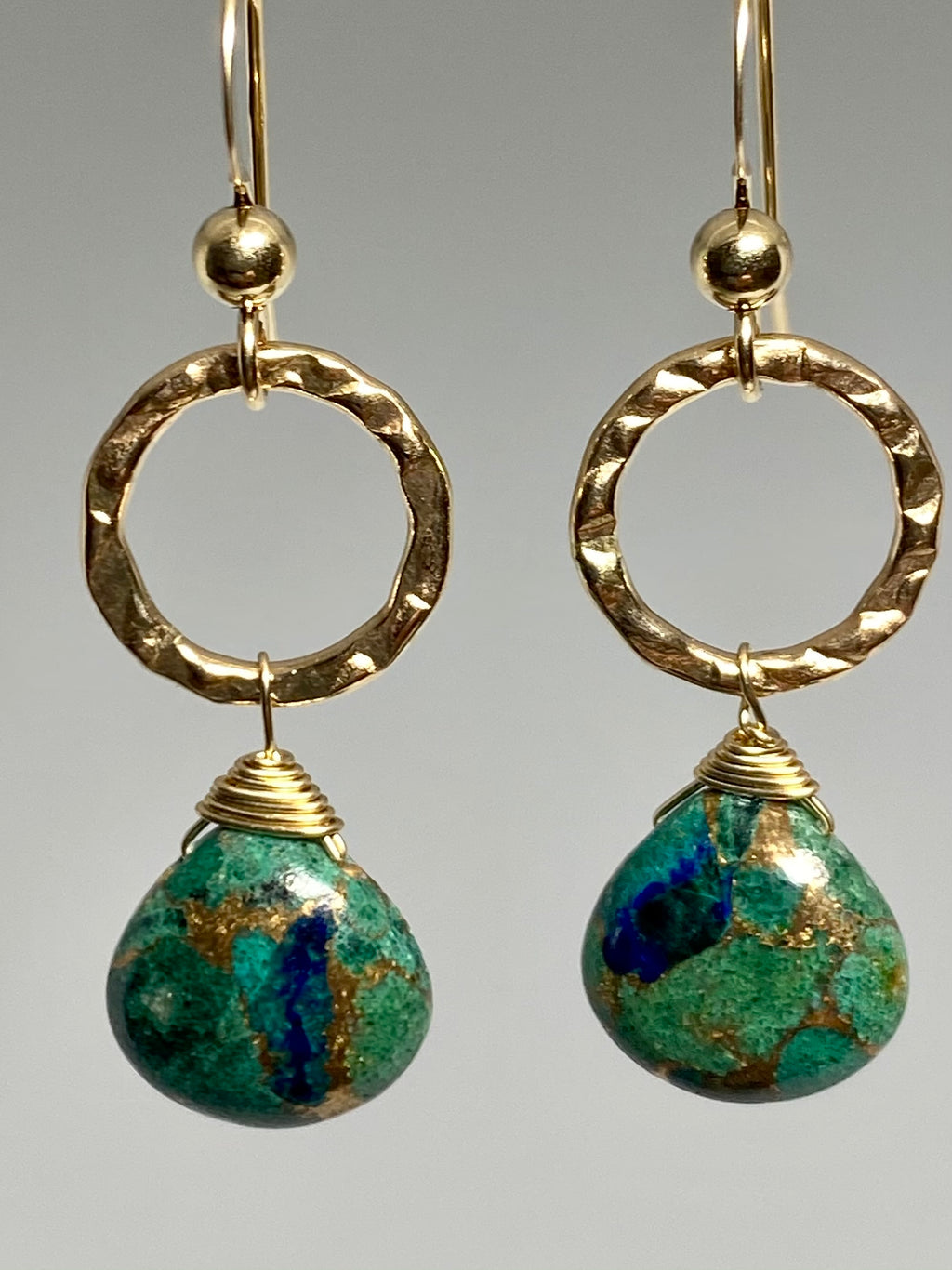 Azurite Infinity Earrings