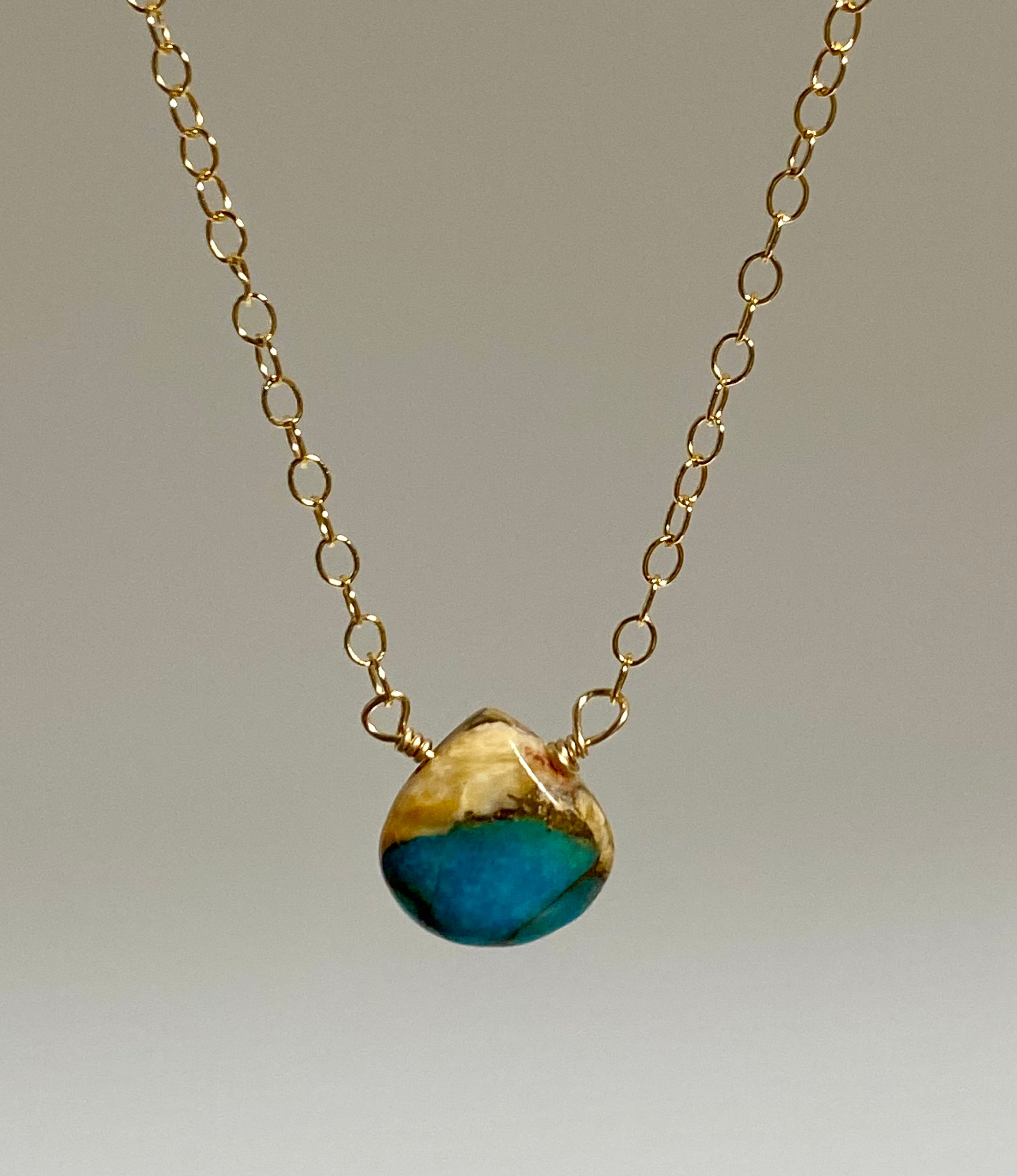 Mini Turquoise Oyster Shell Necklace