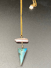 Load image into Gallery viewer, Labradorite pearl necklace