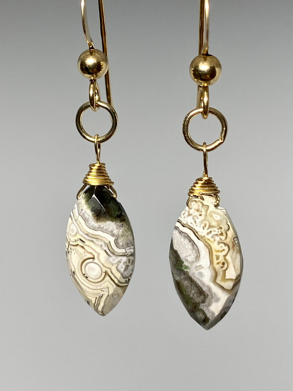 Jasper Marquise Earrings
