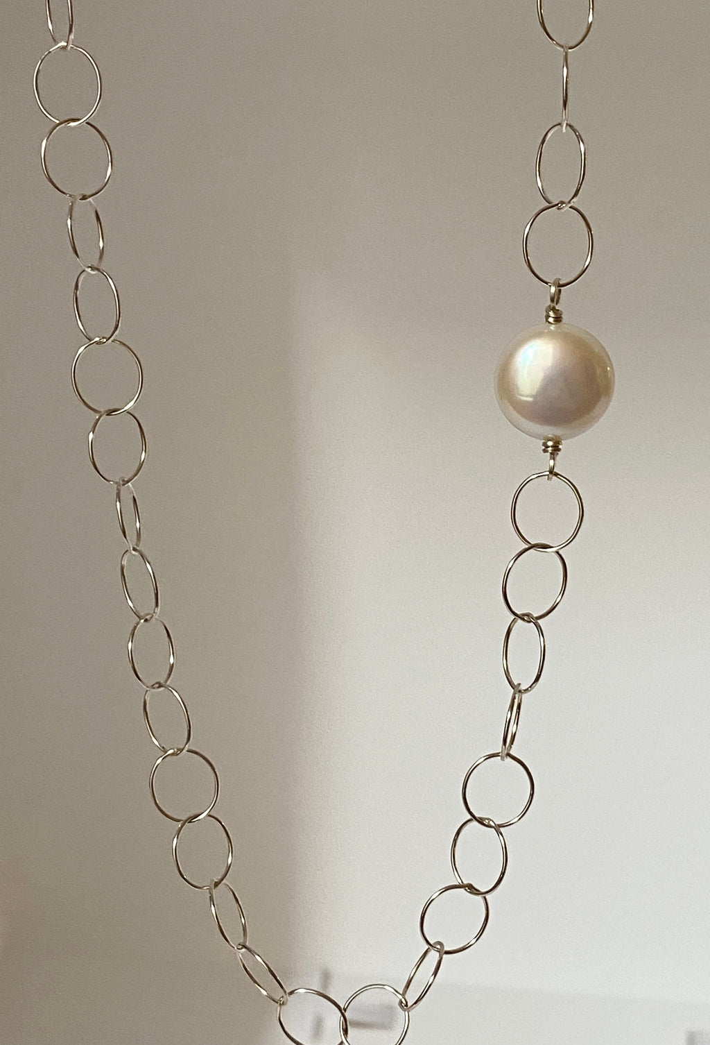 Infinity Pearl Long Necklace