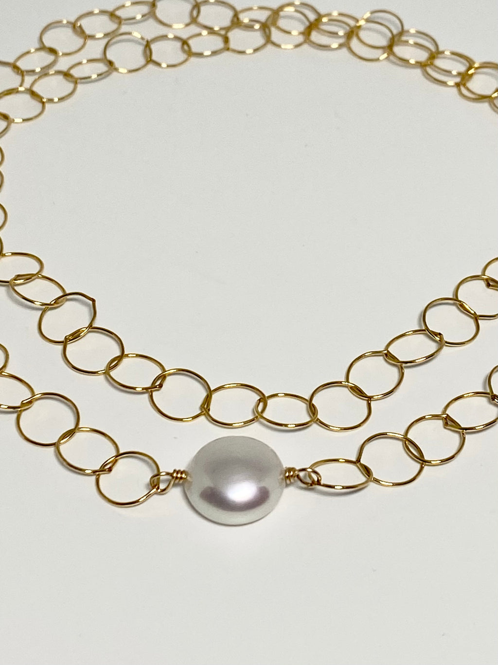 Freshwater Pearl Infinity Necklace