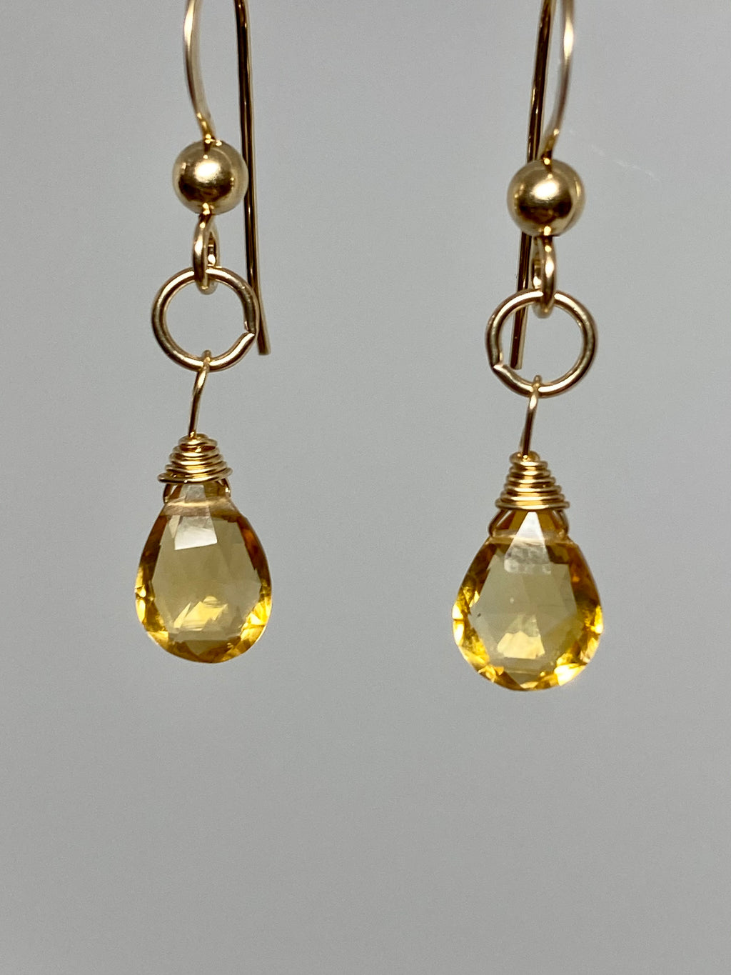 Citrine Mini Earrings