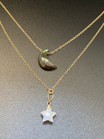 Moon & Star Layered Necklace