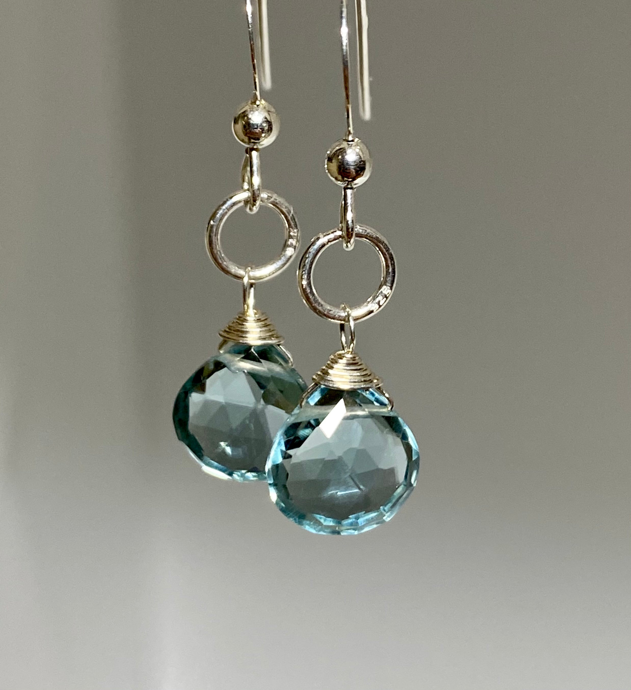Aquamarine Mini Earrings