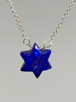 Lapis Star Necklace
