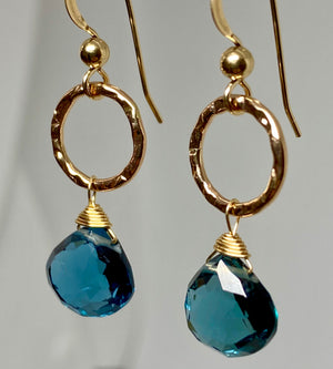 London Blue Quartz Earrings