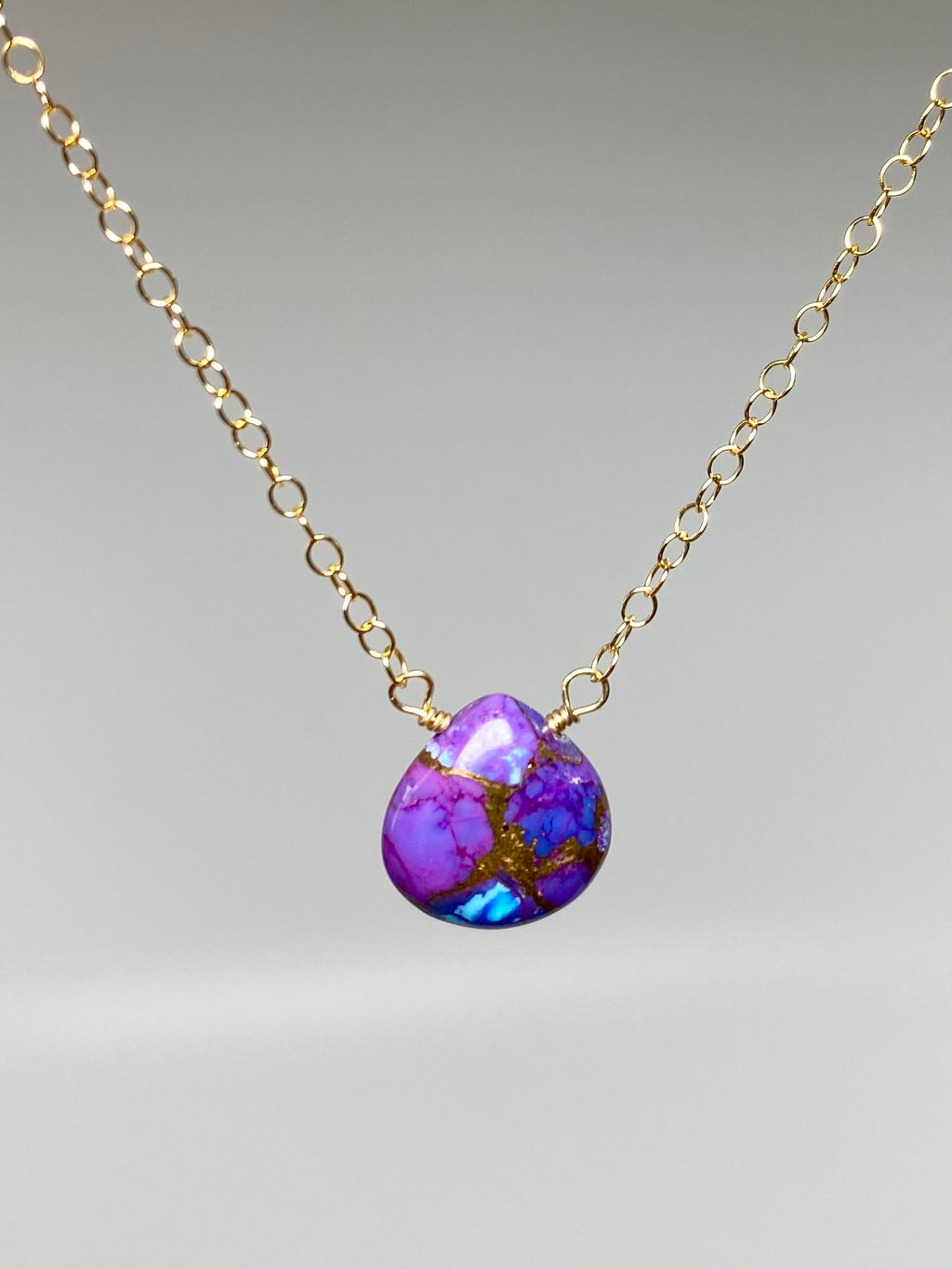 Purple Turquoise Mini Necklace