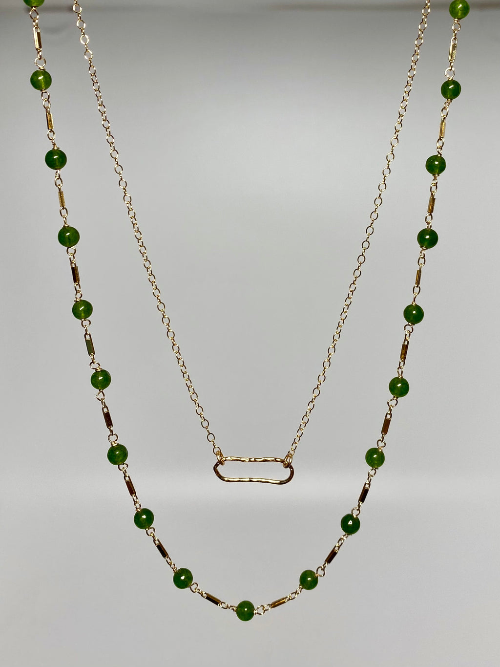 Jade Double Chain Necklace