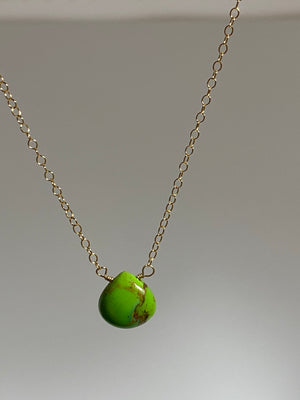 Mini Lime Turquoise Necklace
