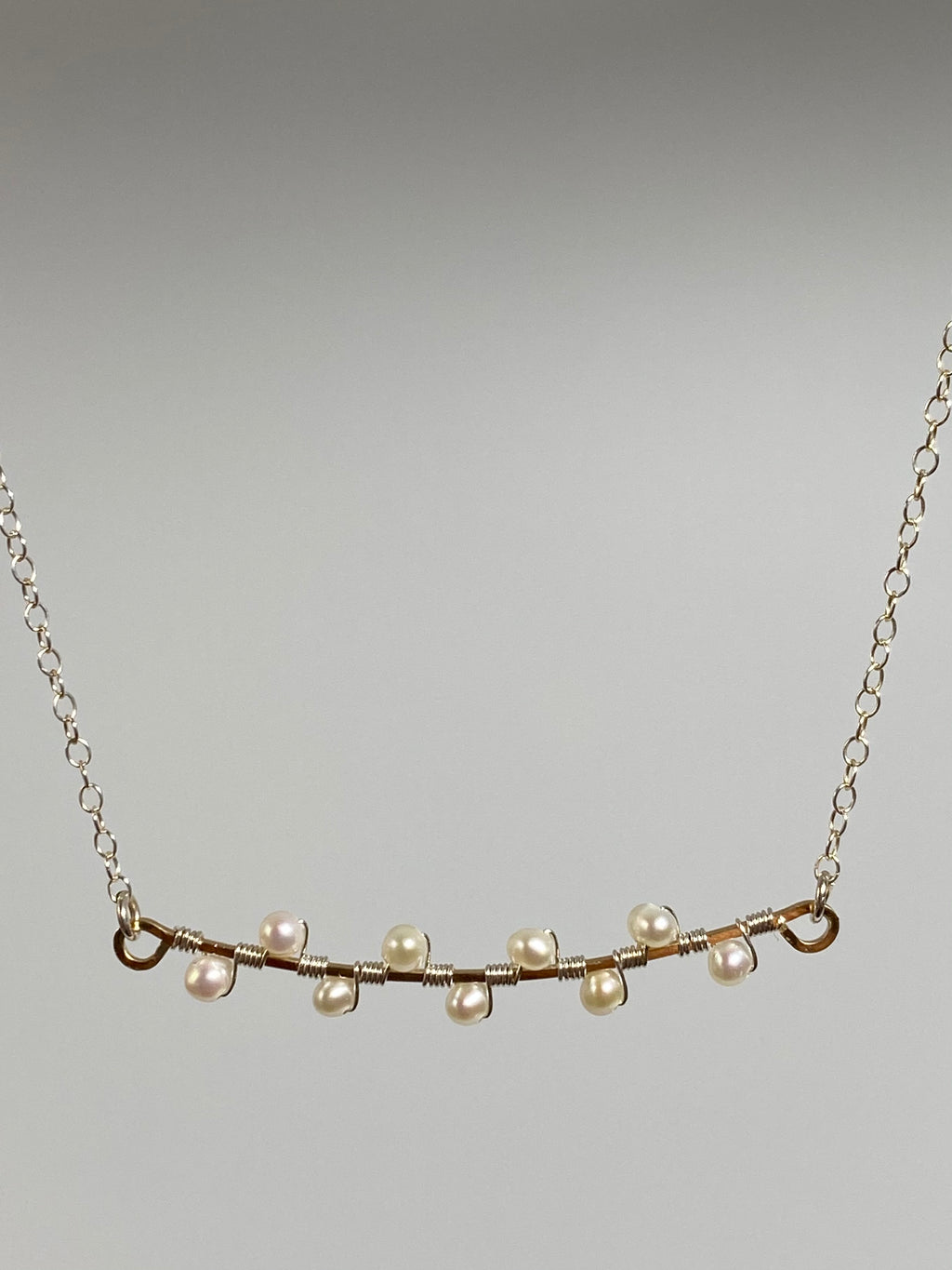 Leila Two Tone Pearl Branch Necklace
