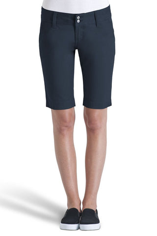 Womens Navy Bermuda Shorts