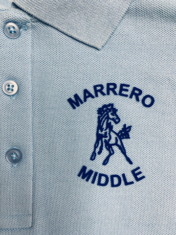 L.H. Marrero Middle Lt. Blue Polo