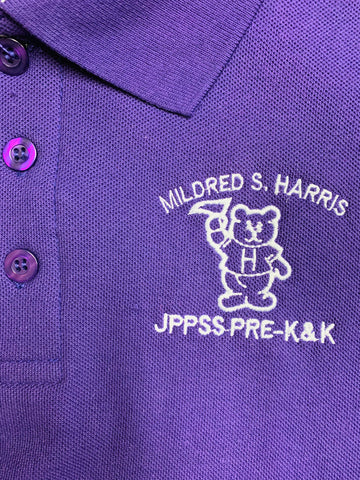 Mildred S. Harris Elementary Purple Polo