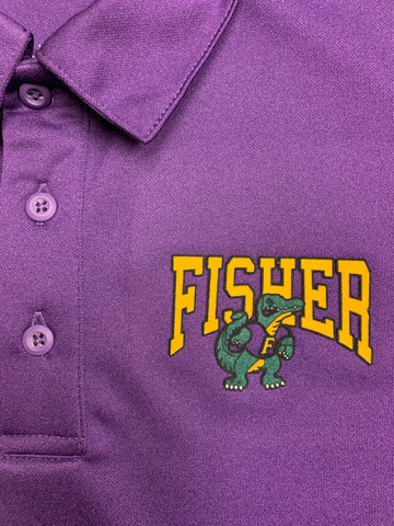 Fisher Middle/High School Dry Fit Purple Polo Shirt