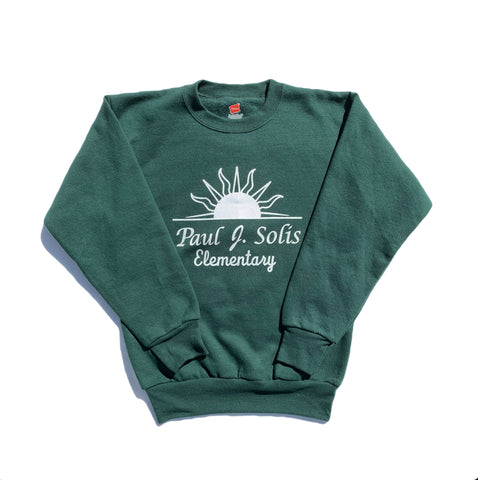 Paul Solis Green Crew Sweatshirt
