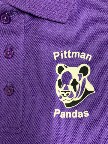 Ella C. Pittman Elementary Purple Polo