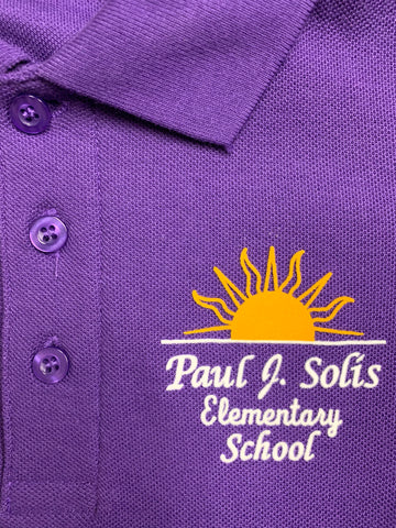 Paul Solis Elementary Purple Polo