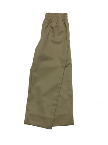 Khaki Elastic Pull On Pants