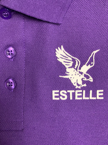 Estelle Elementary Purple Polo