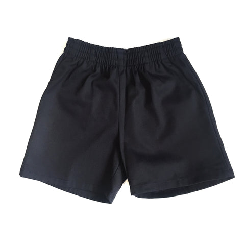 Navy Elastic Pull On Shorts