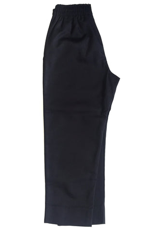 Navy Elastic Pull On Pants