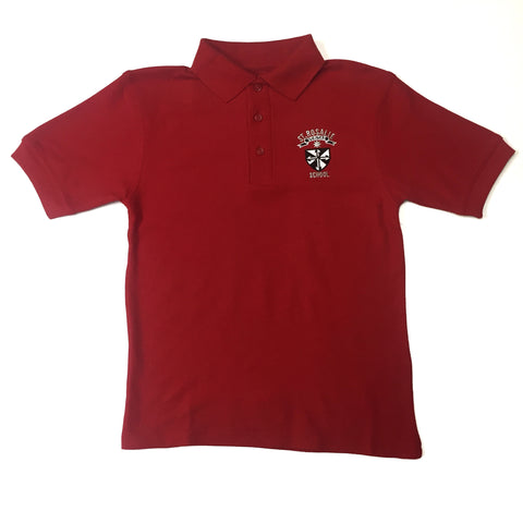 St. Rosalie Boys Red Polo For Kindergarten - 7th Grade