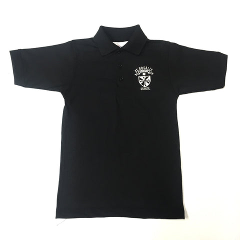St. Rosalie Boys Black Polo For Preppie & Pre-K