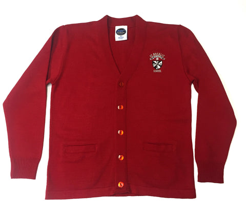 St. Rosalie Girls Red Cardigan