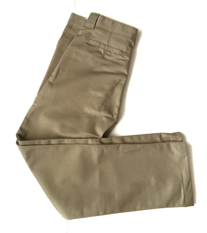 Boys Khaki Tapered Leg Pants