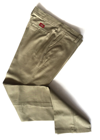 Girls Khaki Slim Fit Pants
