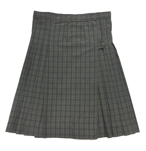 Grey Plaid Kilt Skirt