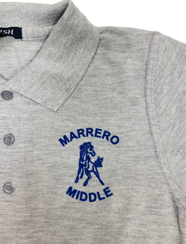 L.H. Marrero Middle Grey Polo