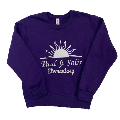 Paul Solis Purple Crew Sweatshirt