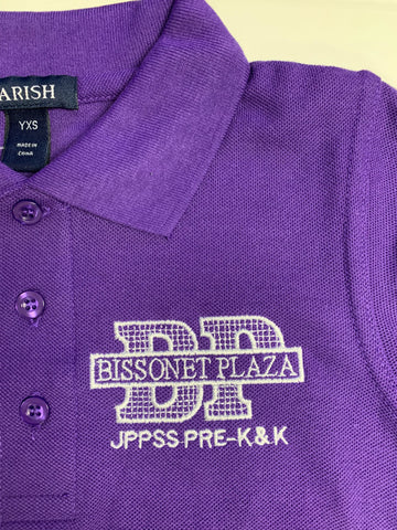 Bissonet Plaza Elementary Purple Polo