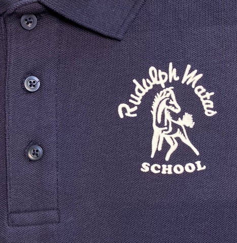 Rudolph Matas Middle School Navy Polo
