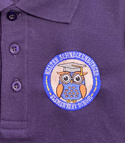 Walter Schneckenburger Elementary Purple Polo