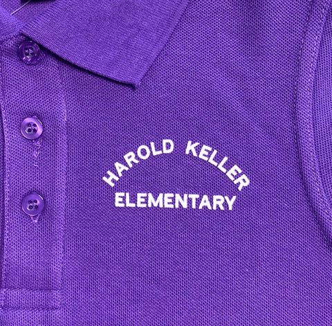Harold Keller Elementary School Purple Polo