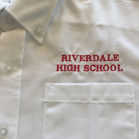 Riverdale High School Male White Oxford Shirt