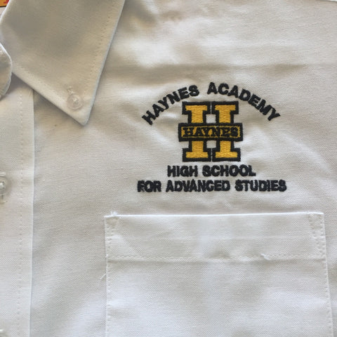 Haynes Academy for Advanced Studies Male White Oxford Shirt